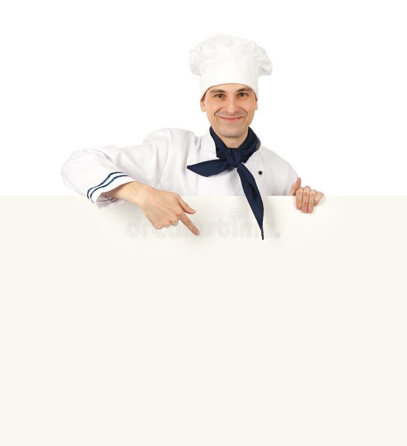 Het voorstellen van de chef-kok stock foto's