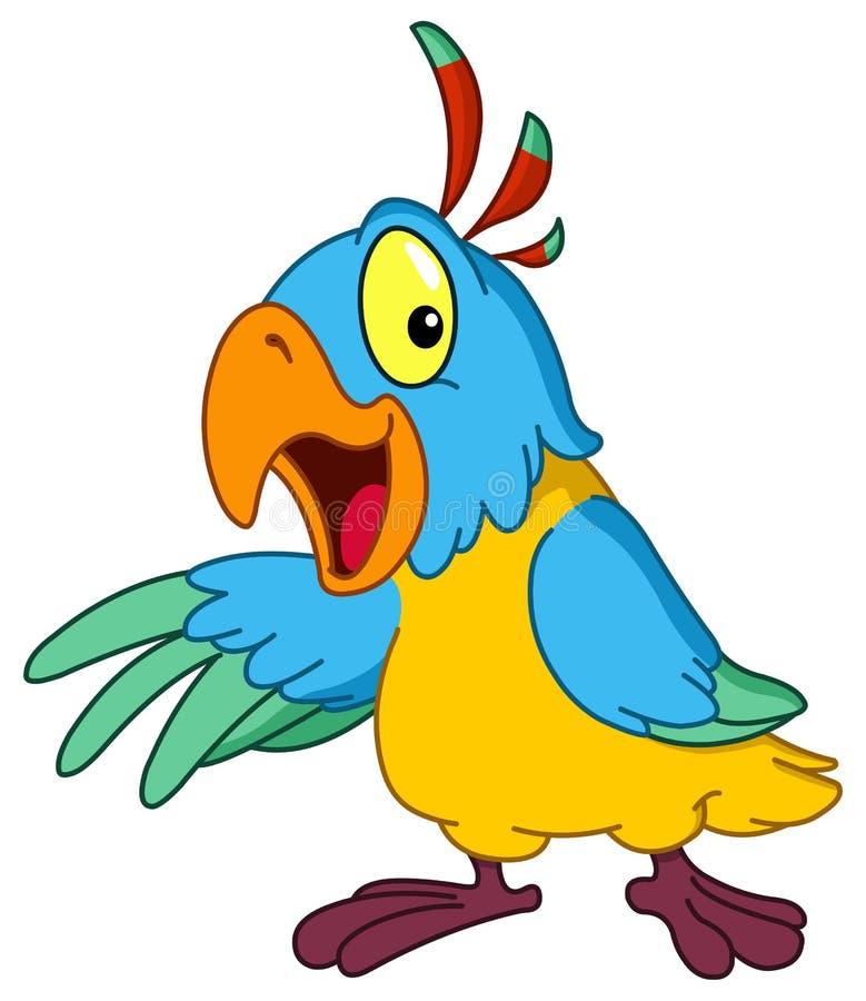Het voorstellen van papegaai stock illustratie
