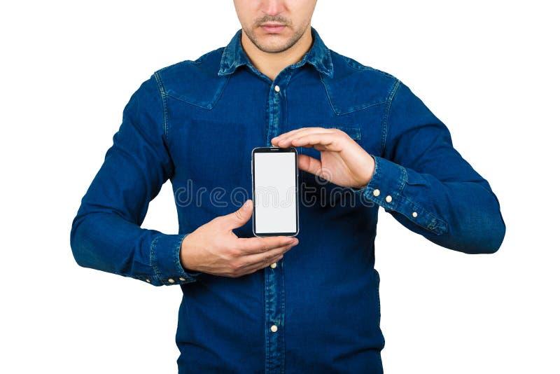 Het voorstellen van smartphone stock afbeeldingen