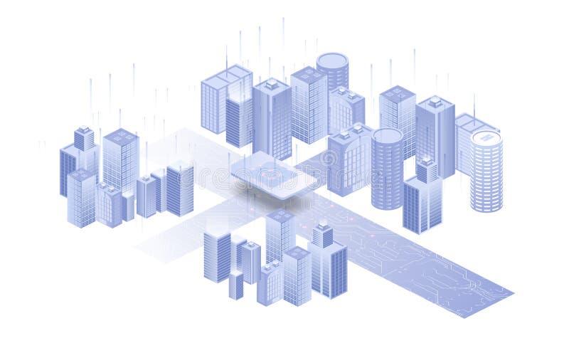 Het voortbouwen op witte achtergrond Netwerk sim pictogram Ge?soleerdez illustratie witte achtergrond Ingebed SIM-concept stock illustratie