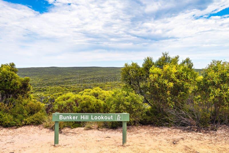 Het Vooruitzicht van de bunkerheuvel, Kangoeroeeiland royalty-vrije stock foto