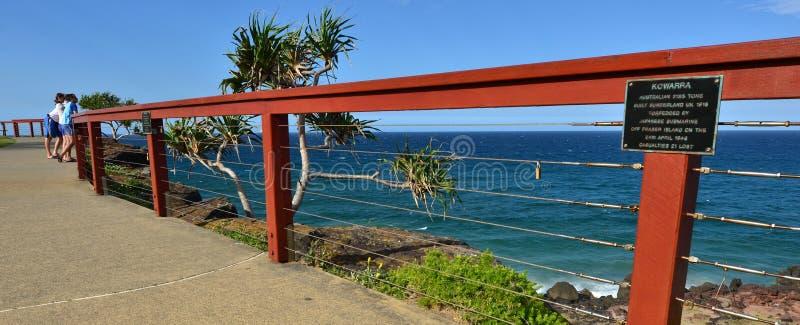 Het Vooruitzicht van het puntgevaar - Tweedhoofden Queensland Australië stock foto