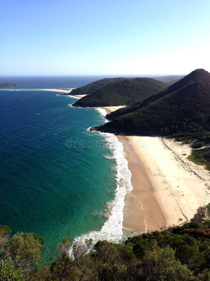 Het vooruitzicht van het strand van Haven Stephens royalty-vrije stock foto's