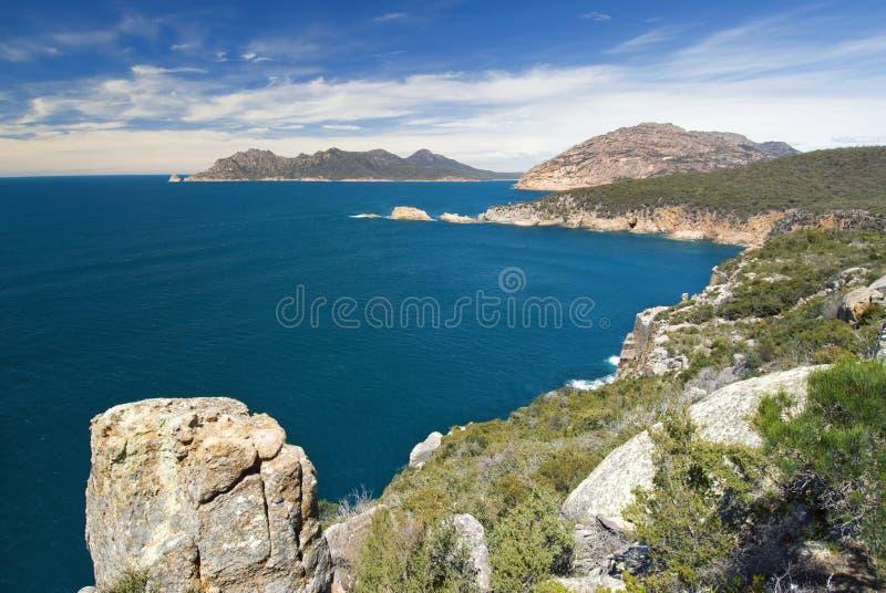 Het vooruitzicht van kaaptourville, het Nationale Park van Freycinet, Tasmanige, Australië royalty-vrije stock fotografie