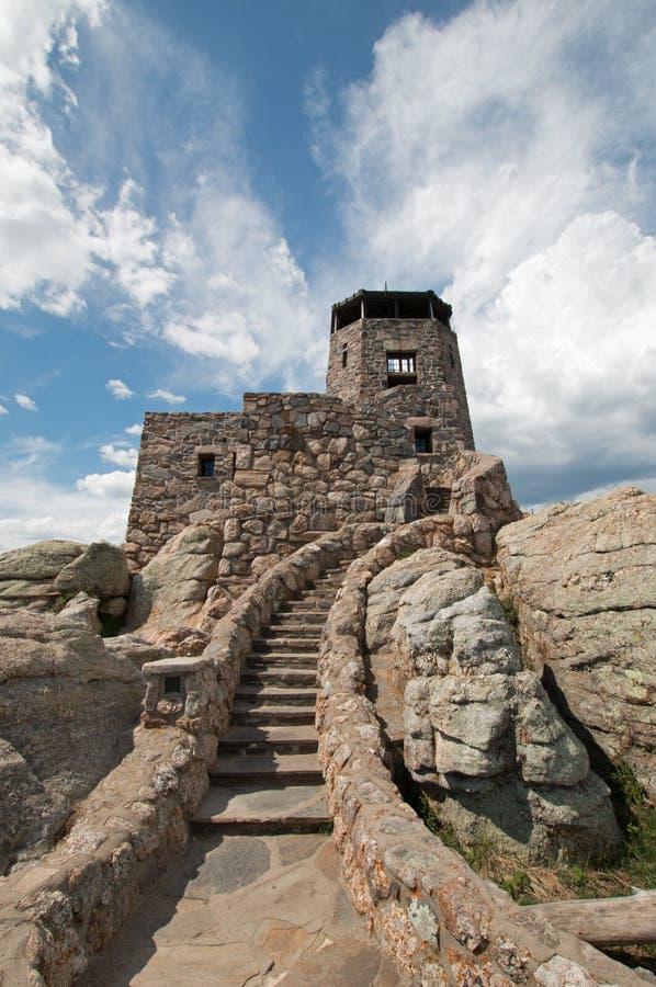 Het Vooruitzichttoren van de Harney Piekbrand in Custer State Park in de Zwarte Heuvels van Zuid-Dakota royalty-vrije stock afbeeldingen