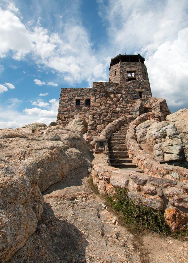 Het Vooruitzichttoren van de Harney Piekbrand in Custer State Park in de Zwarte Heuvels van Zuid-Dakota stock fotografie