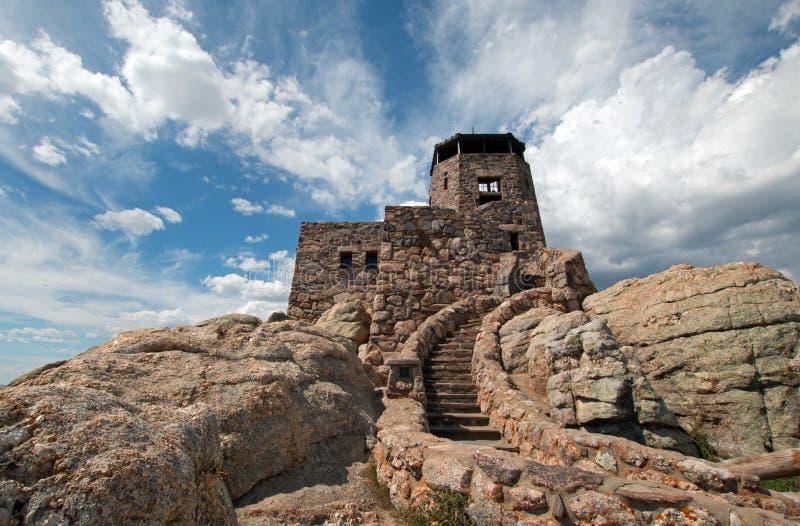Het Vooruitzichttoren van de Harney Piekbrand in Custer State Park in de Zwarte Heuvels van Zuid-Dakota stock afbeelding