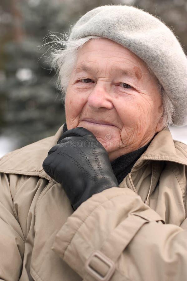 Het vooruitzien van de bejaarde royalty-vrije stock afbeeldingen