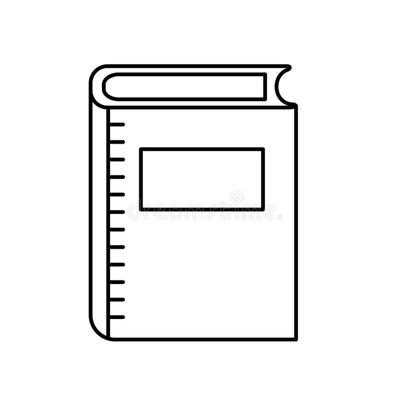 Het voorwerp van het lijnboek aan de literatuur van de onderwijskennis vector illustratie