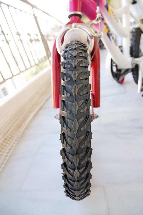 Het VoorWiel van de fiets royalty-vrije stock afbeelding