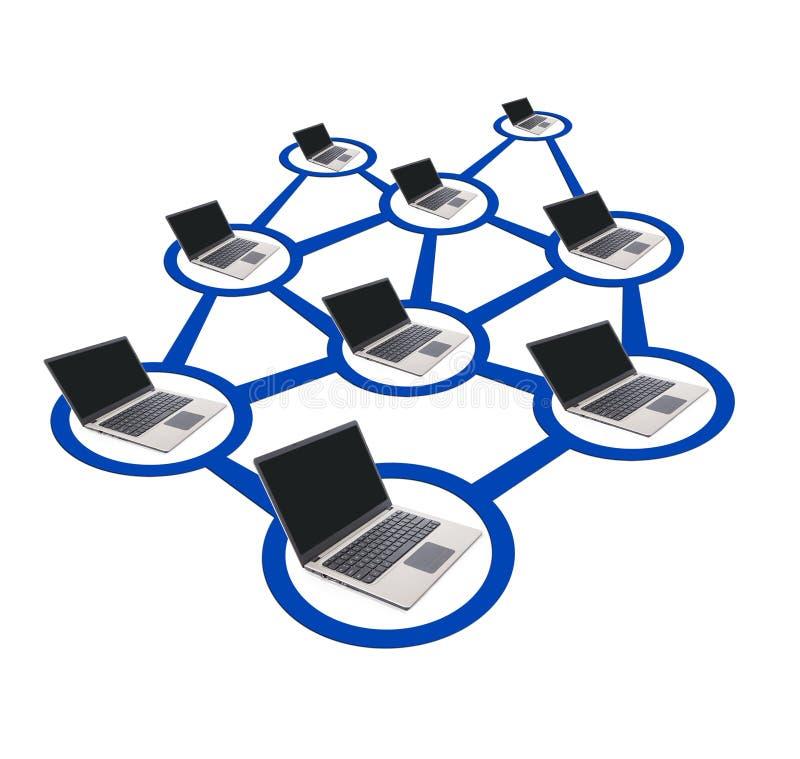 Het Voorzien van een netwerk van de computer royalty-vrije illustratie