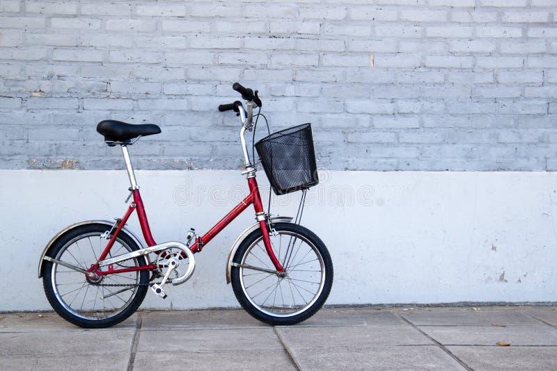 Het vouwen van fiets stock foto