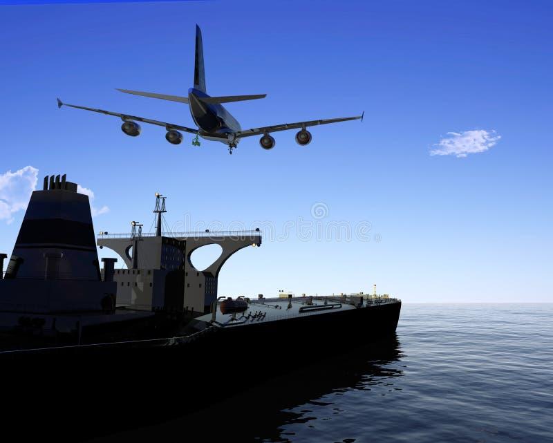 Het vrachtschip royalty-vrije illustratie