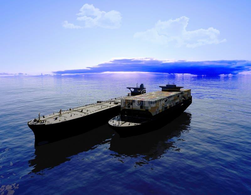 Het vrachtschip vector illustratie