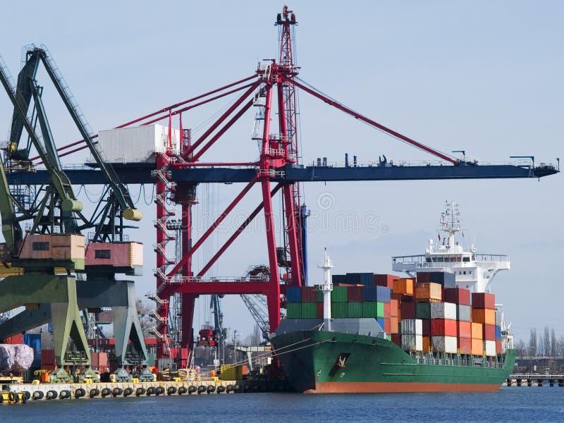 Het Vrachtschip van de container stock afbeelding