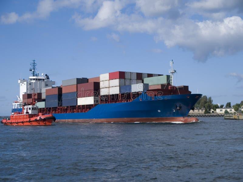 Het Vrachtschip van de container stock afbeeldingen
