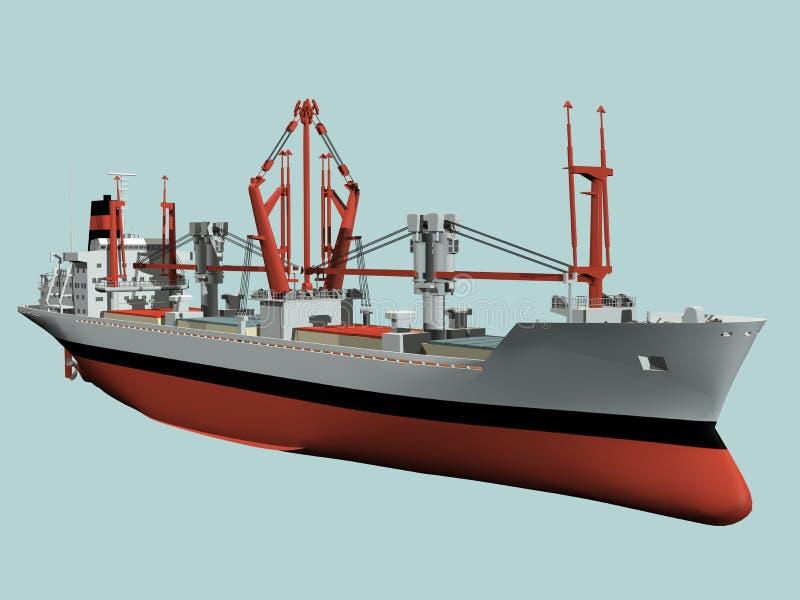 Het vrachtschip van de lading vector illustratie