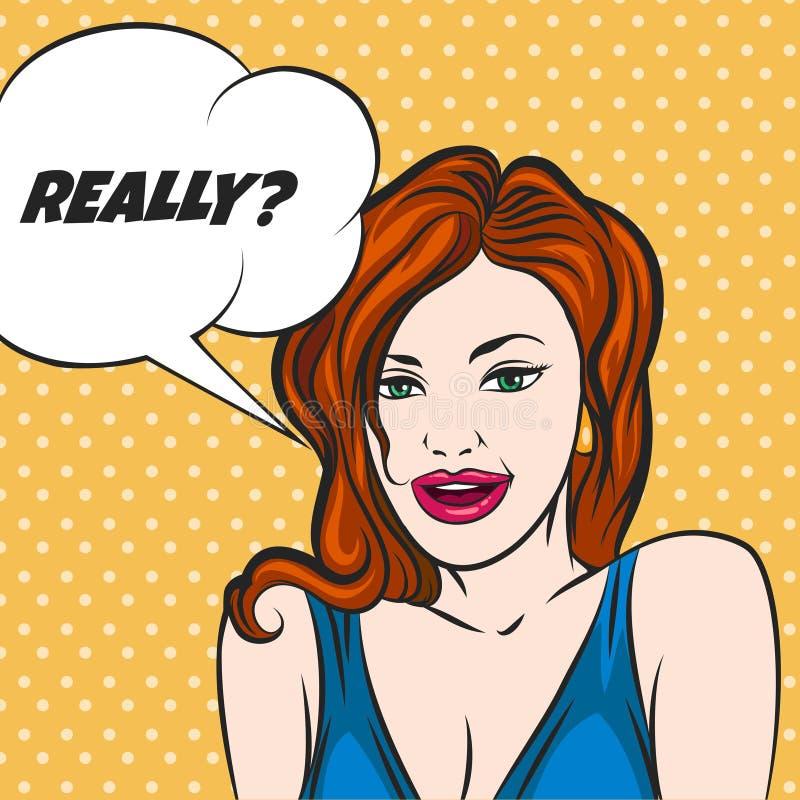 Het vragen van meisje royalty-vrije illustratie