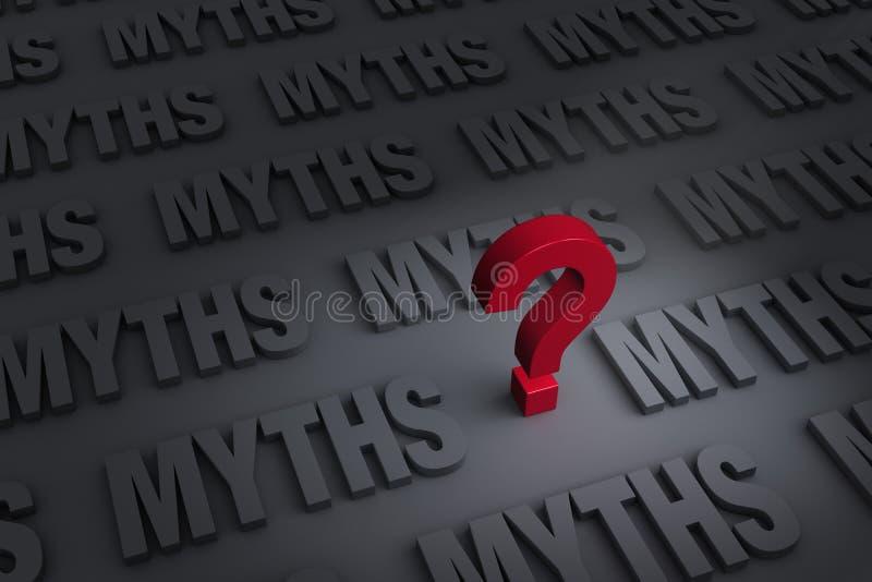 Het vragen van Mythen vector illustratie