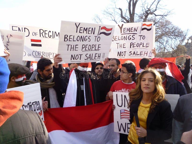 Het vragen van Saleh om weg te gaan stock fotografie