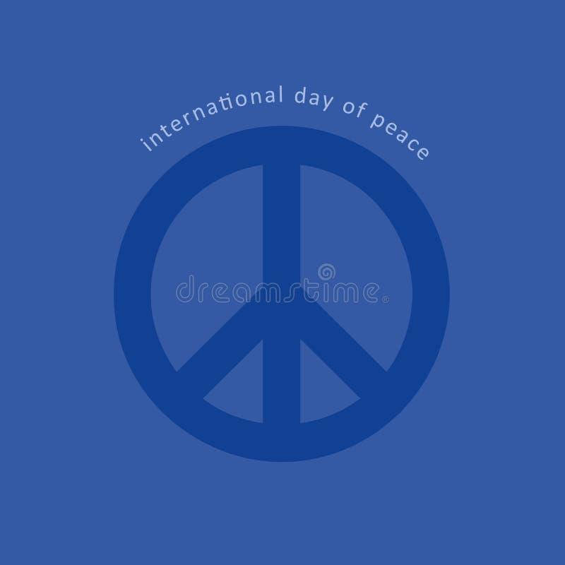 Het vredessymbool zingt blauw vector illustratie
