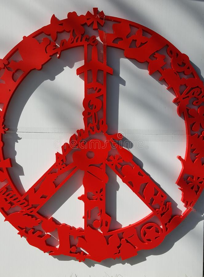 Het vredesteken royalty-vrije stock foto