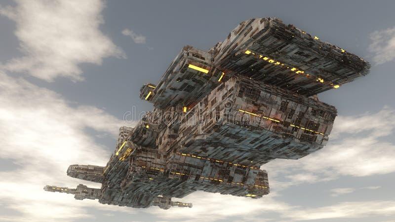 Het vreemde schip van het UFO royalty-vrije illustratie