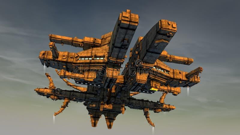 Het vreemde schip van het UFO vector illustratie