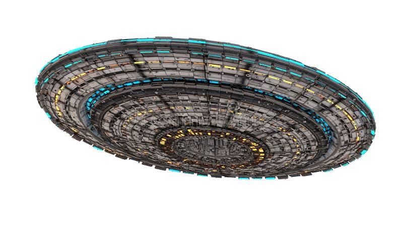 Het vreemde schip van het UFO stock illustratie