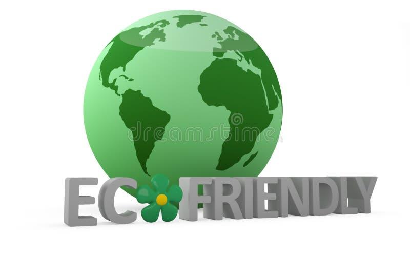 Het vriendschappelijke concept van Eco vector illustratie