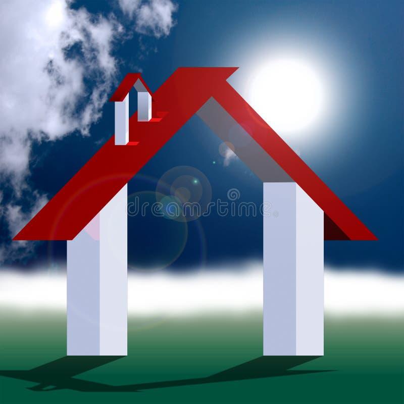 Het vriendschappelijke huis van Eco stock illustratie