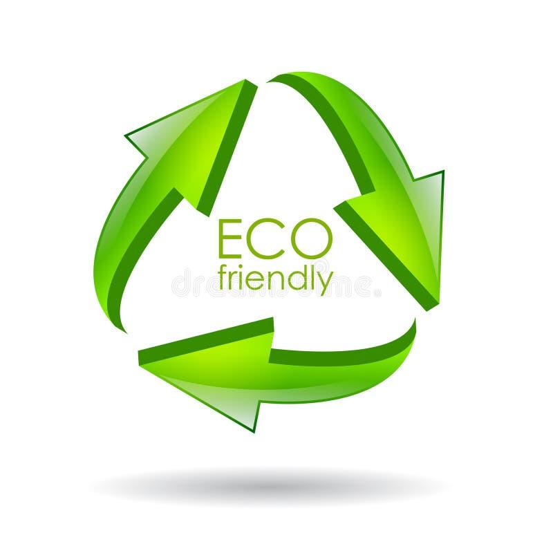 Het vriendschappelijke symbool van Eco vector illustratie