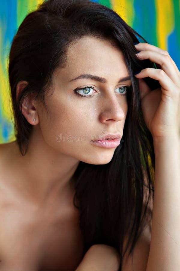 Het vrij Jonge Portret van de Vrouw royalty-vrije stock afbeelding