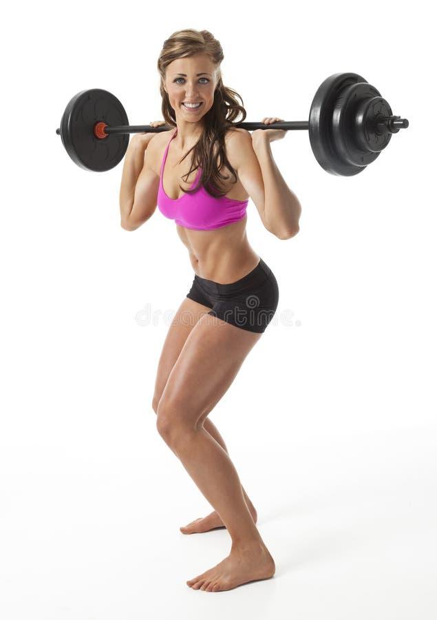 Het vrij Vrouwelijke Heftoestel van het Gewicht stock foto