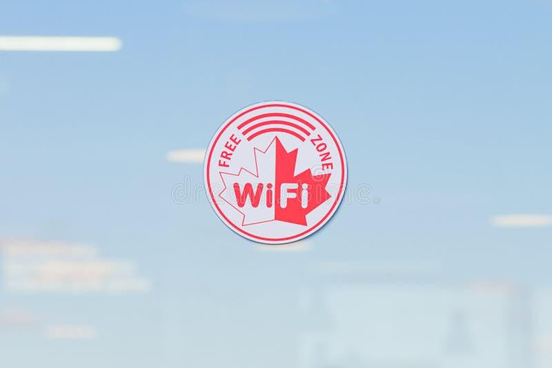 Het vrije rode en witte teken van de wifistreek royalty-vrije stock afbeeldingen
