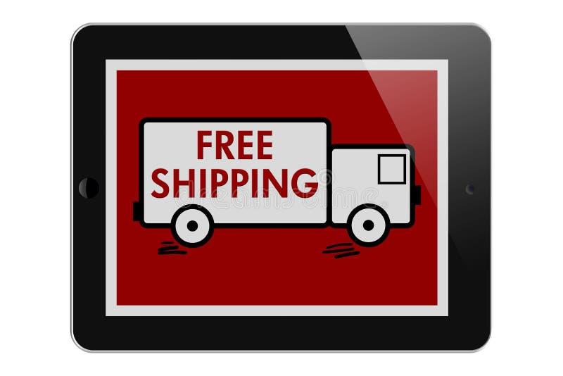 Het vrije Verschepen op Online Aankopen royalty-vrije illustratie