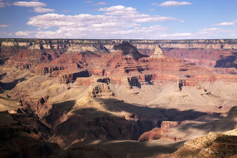 Het vroege Nationale Park van Avondgrand canyon, Arizona stock foto's