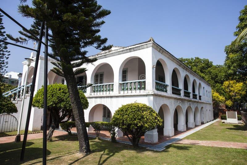 Het vroegere koopvaardijhuis van Tait & van Co in Anping, Tainan, Taiwan stock afbeelding