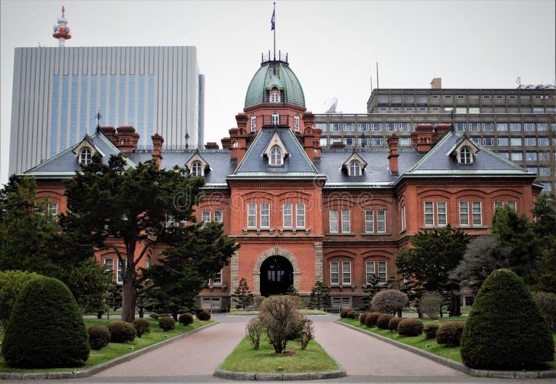 Het vroegere Regeringskantoor van Hokkaido, Sapporo, Hokkaido, Japan royalty-vrije stock foto's