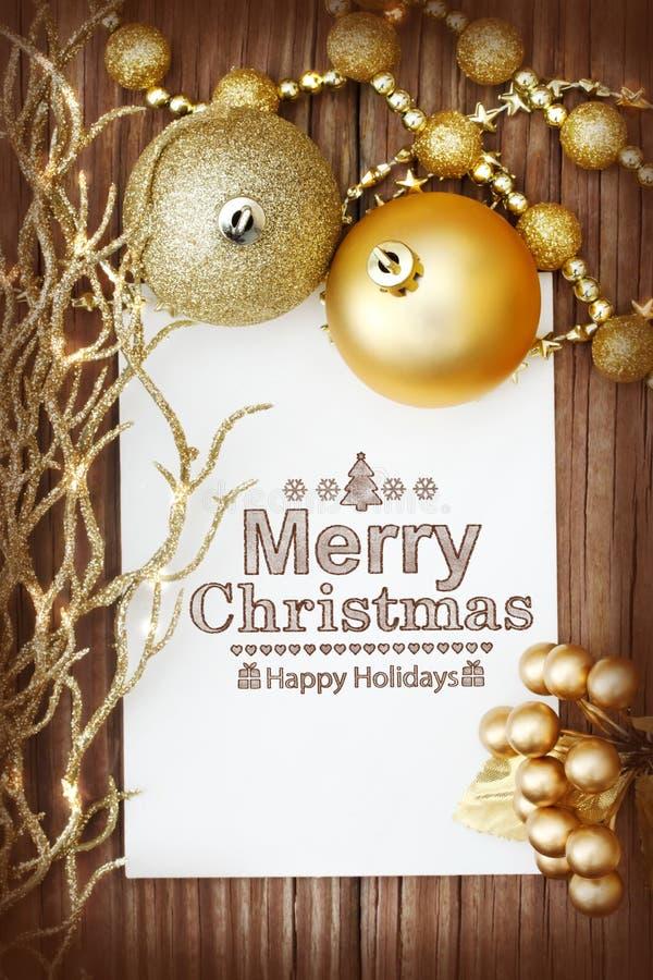 Het vrolijke Bericht van Kerstmis stock afbeelding