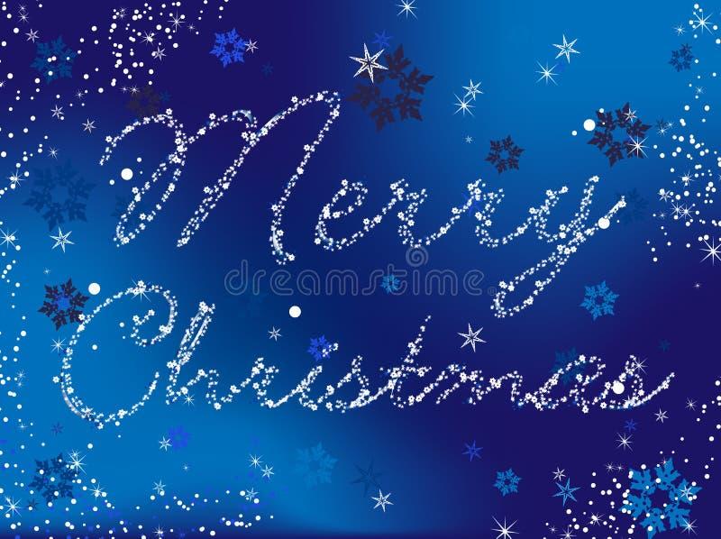 Het vrolijke Blauw van Kerstmis royalty-vrije illustratie