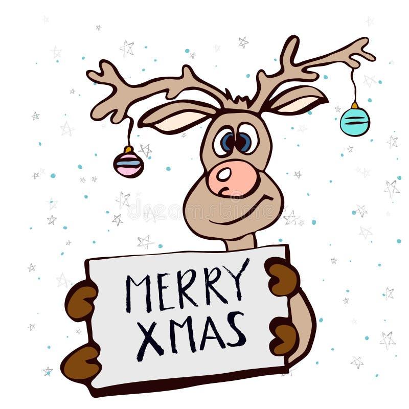 Het vrolijke concept van de Kerstmisaffiche stock illustratie