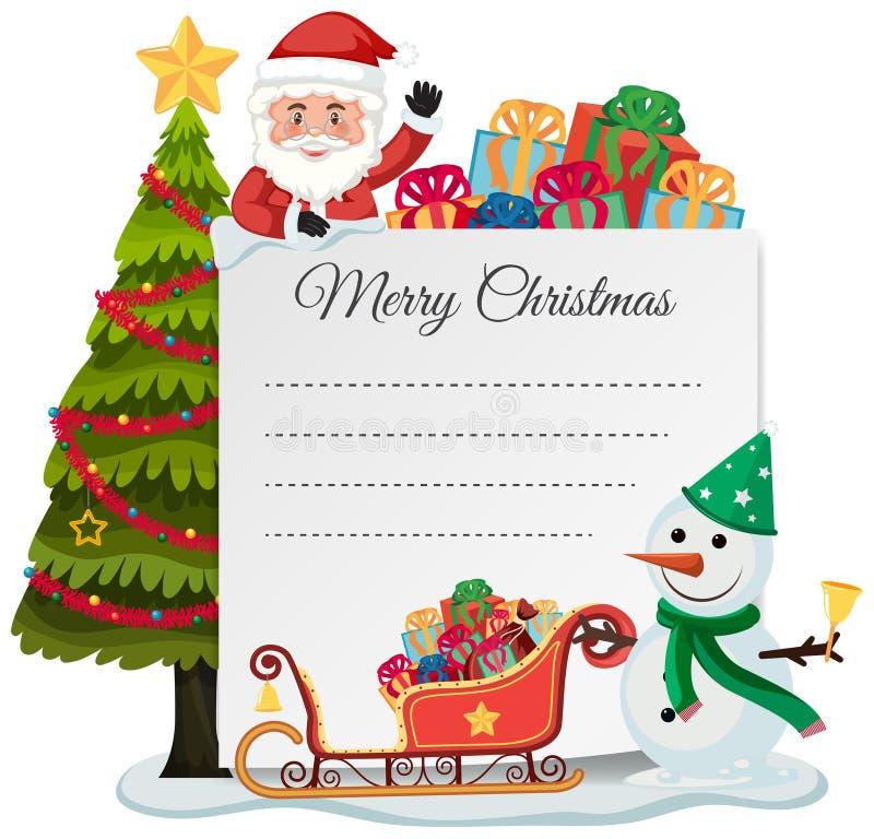Het vrolijke concept van de Kerstmislijst stock illustratie