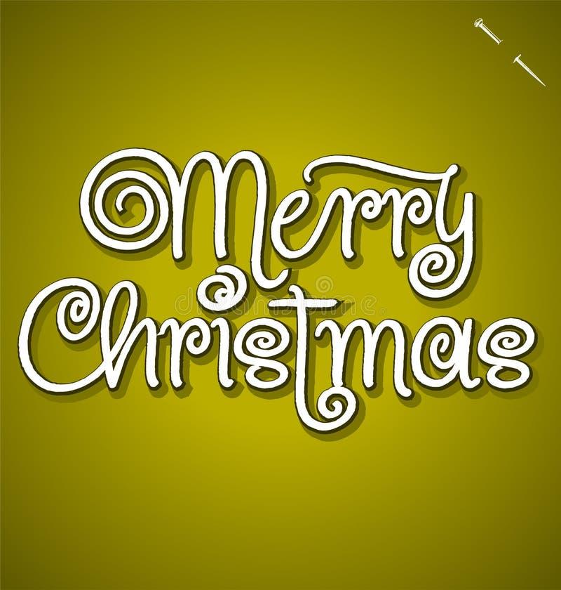 Het vrolijke de hand van Kerstmis van letters voorzien royalty-vrije illustratie