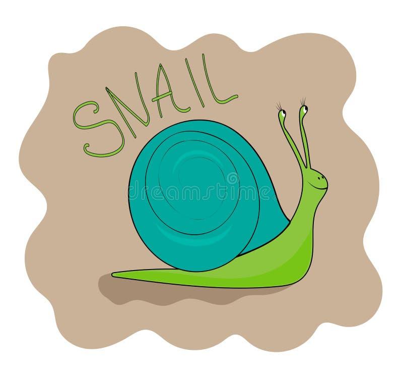 Het vrolijke groene slak glimlachen royalty-vrije illustratie