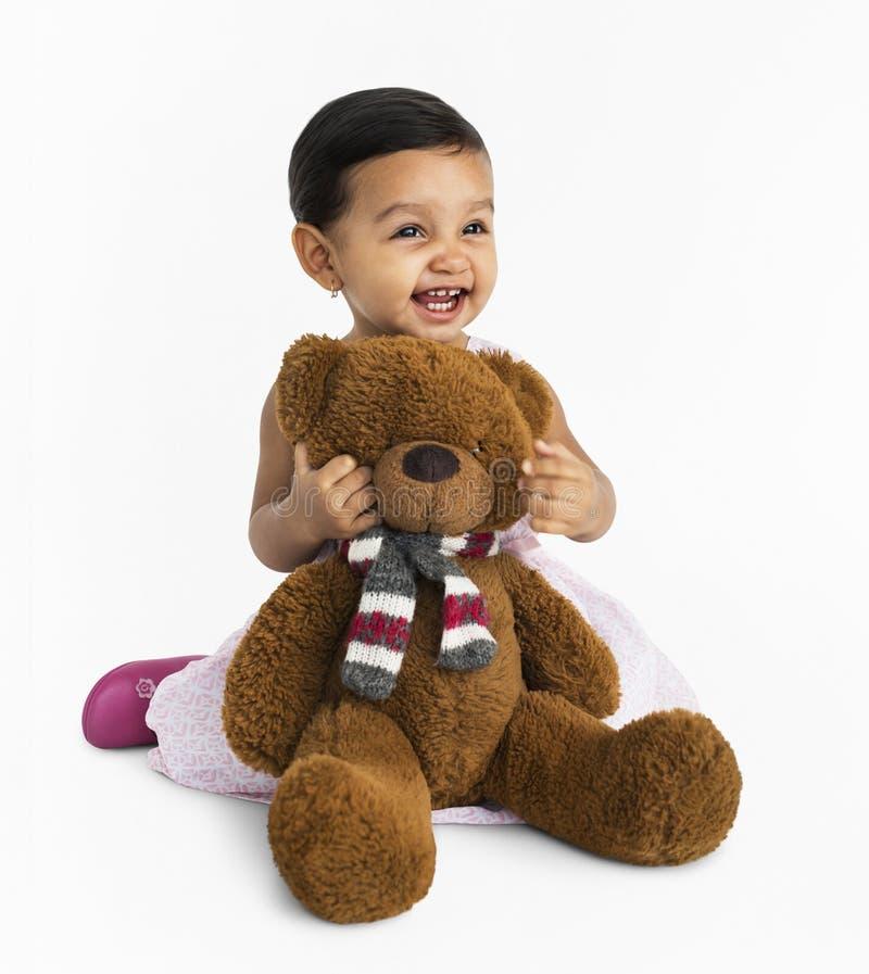 Het vrolijke Jonge geitje heeft Pret het Glimlachen Concept royalty-vrije stock afbeelding
