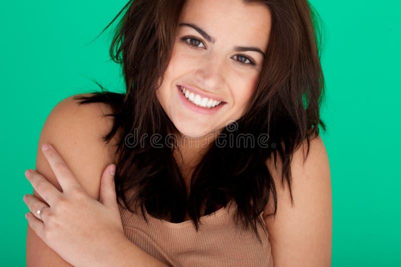 Het vrolijke Jonge Portret van de Vrouw stock foto's