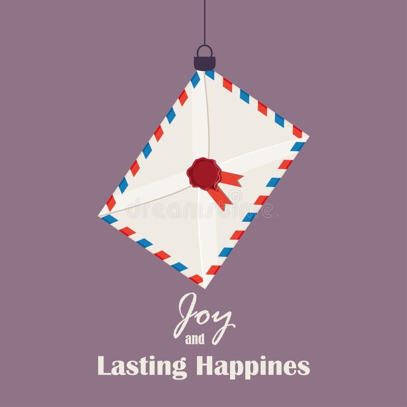 Het vrolijke Kerstmis Uitstekende Retro Typografie Van letters voorzien vector illustratie