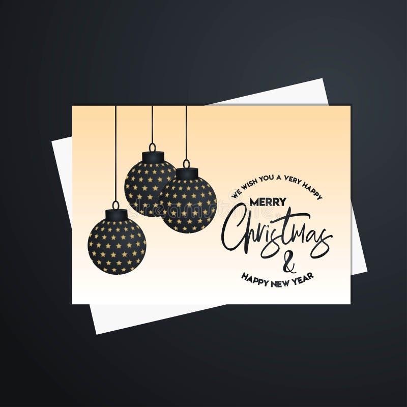 Het vrolijke Malplaatje van de Kerstmis 2019 Banner stock illustratie