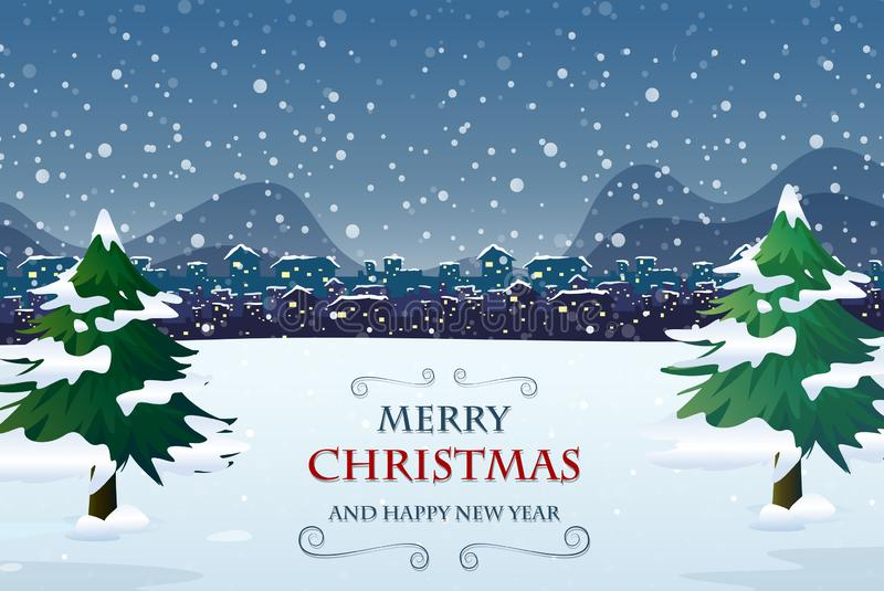 Het vrolijke malplaatje van de Kerstmis uit deur stock illustratie